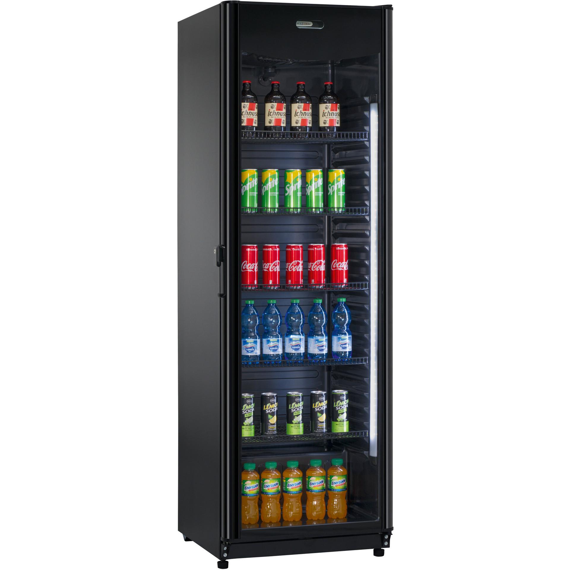 Flaschenkühlschrank schwarz, 382 l