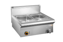 Elektro-Bain-Marie 2 x GN 1/1 H=160 mm Serie 650/ 700 x 650 x 270 mm