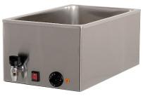 Elektro-Bain-Marie 1 x GN 1/1 H=200 mm mit Ablaufhahn 340 x 540 x 300 mm