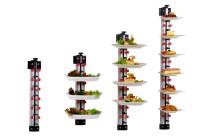 Tellerstapelsystem PLATE MATE, Wandmodell bis 18 Teller / H=1410 mm