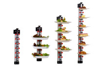 Tellerstapelsystem PLATE MATE, Wandmodell bis 21 Teller / H=1620 mm