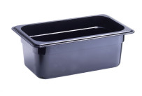 GN-Behälter, GN 1/4, 265 x 162 x 100 mm, Polycarbonat, schwarz