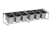 GN-Ständer für Gewürzbehälter, Edelstahl, 680 x 180 x 155 mm