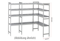 Kühlzellenregal 4 Etagen U-Form passend zu Kühlzelle 661037, 661050