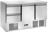 Kühltisch GN 1/1 2 Türen 2 Schubladen 1365 x 700 x 870 mm