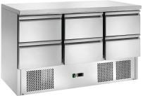 Kühltisch GN 1/1 6 Schubladen 1365 x 700 x 870 mm
