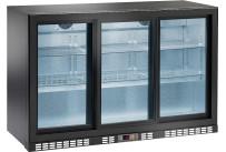 Flaschenkühlschrank 320 l 3 Glasschiebetüren 6 Roste
