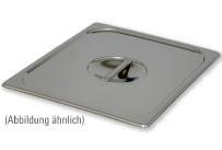 GN-Deckel, GN 1/6, 176 x 162 mm, mit Griffmulde und Löffelausschnitt, Edelstahl