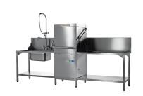 Hauben-Spülmaschine mit VapoStop, Reinigerdosierer und Klarspüldosierer
