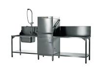 Hauben-Spülmaschine mit VapoStop, Reiniger- + Klarspüldosierer, Enthärter