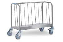 Tellertransportwagen 1-fach niedrige Ausführung Tragkraft 120 kg