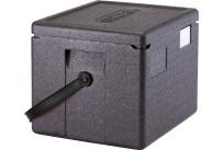 Wärmebox Top-Lader GN 1/2, H=200 mm, mit schwarzem Henkel