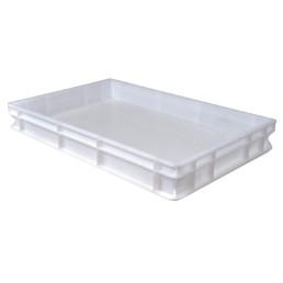 Transportbox Polyethylen weiß 600 x 400 x 70 mm