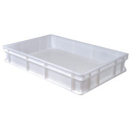 Transportbox Polyethylen weiß 600 x 400 x 100 mm