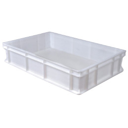 Transportbox Polyethylen weiß 600 x 400 x 130 mm