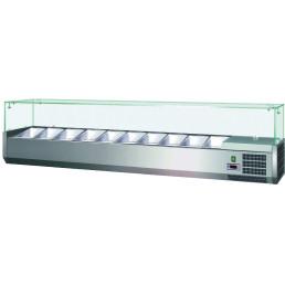 Kühlaufsatzvitrine 3 x GN 1/3 + 1 x GN 1/2 H=150 mm, 1200 x 395 x 435 mm