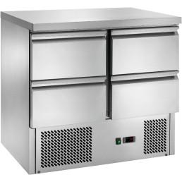 Kühltisch GN 1/1 4 Schubladen 900 x 700 x 870 mm