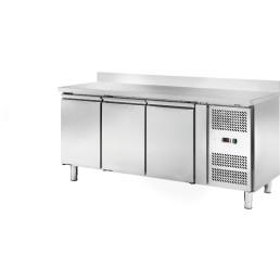 Kühltisch 417 l GN 1/1 mit 100 mm Aufkantung, 3 Türen