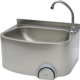 Handwaschbecken halbrund ovales Becken Wandmontage 480 x 360 x 220 mm