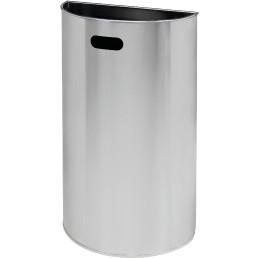 Wandabfallbehälter, 40 l, Edelstahl matt